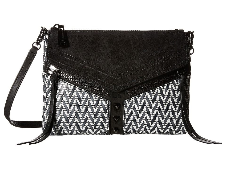 Botkier - Trigger Crossbody (Black/White) Cross Body Handbags
