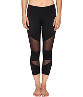 Onzie - Black Mesh Cut Out Capris