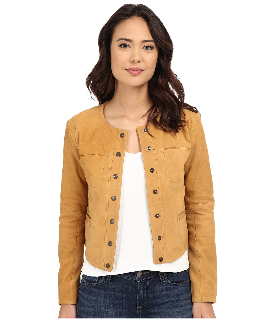 Free People Cool Suede Jacket Golden Haze Womens Coat