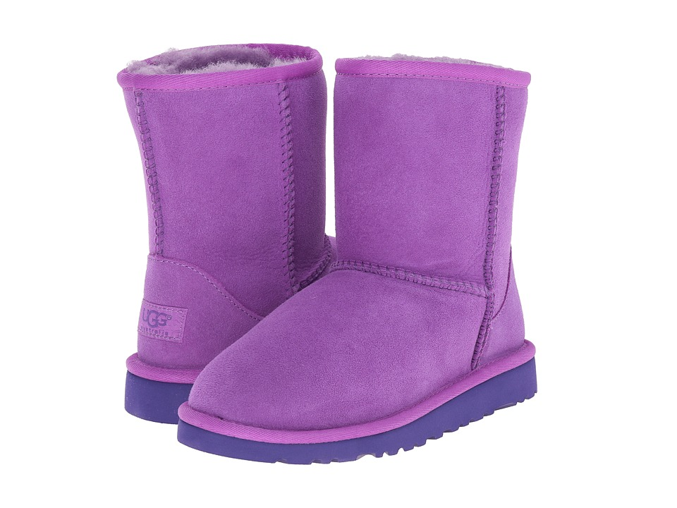 UGG Kids Classic (Little Kid/Big Kid) (Crazy Plum Twinface) Kids Shoes