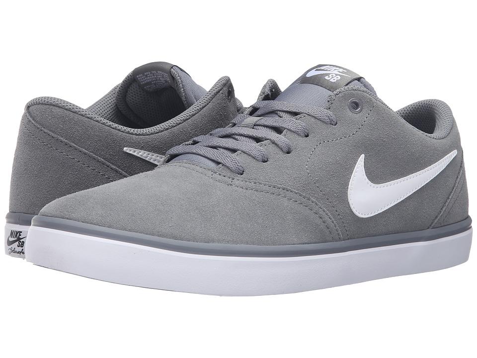 Nike SB Check Solar Suede (Cool Grey/White) Men