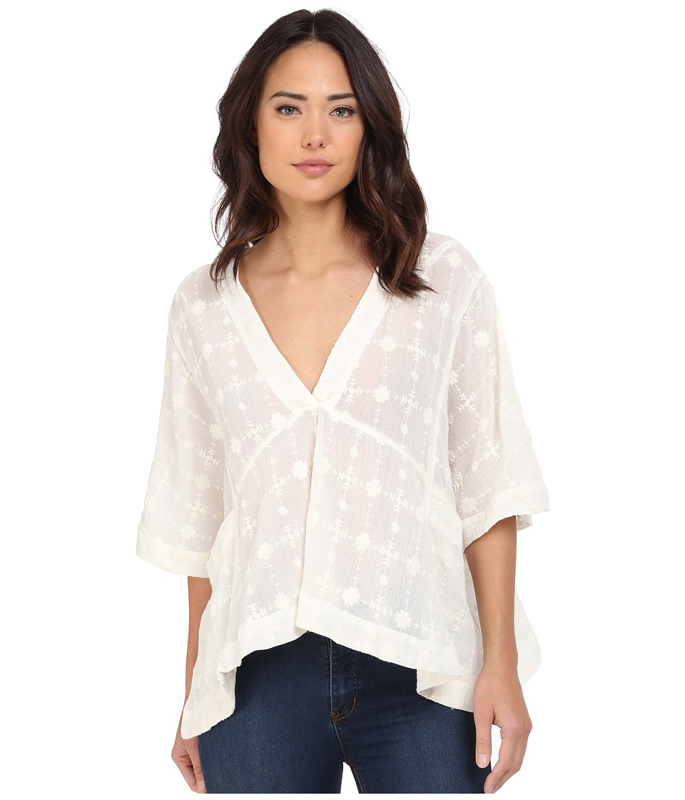 Free People Amber Skies Top Ivory Womens Clothing