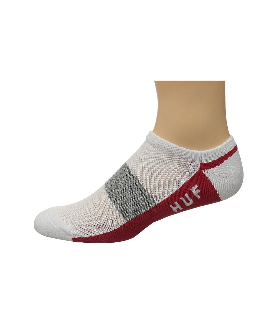 HUF Performance No Show Sock Red Mens No Show Socks Shoes