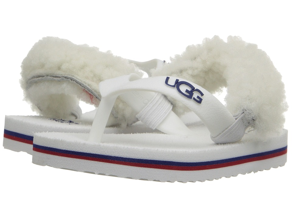 UGG Kids Yia Yia II Infant/Toddler White Wall Sheepskin Girls Shoes