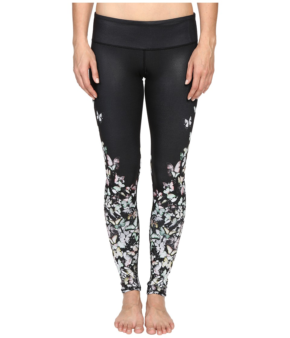ALO Airbrushed Legging Multi Butterfly Glossy Womens Workout