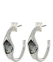 Robert Lee Morris - Black Diamond Hoop Earrings