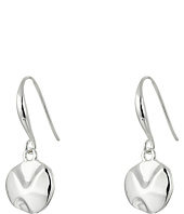 Robert Lee Morris - Tiny Silver Disc Drop Earrings