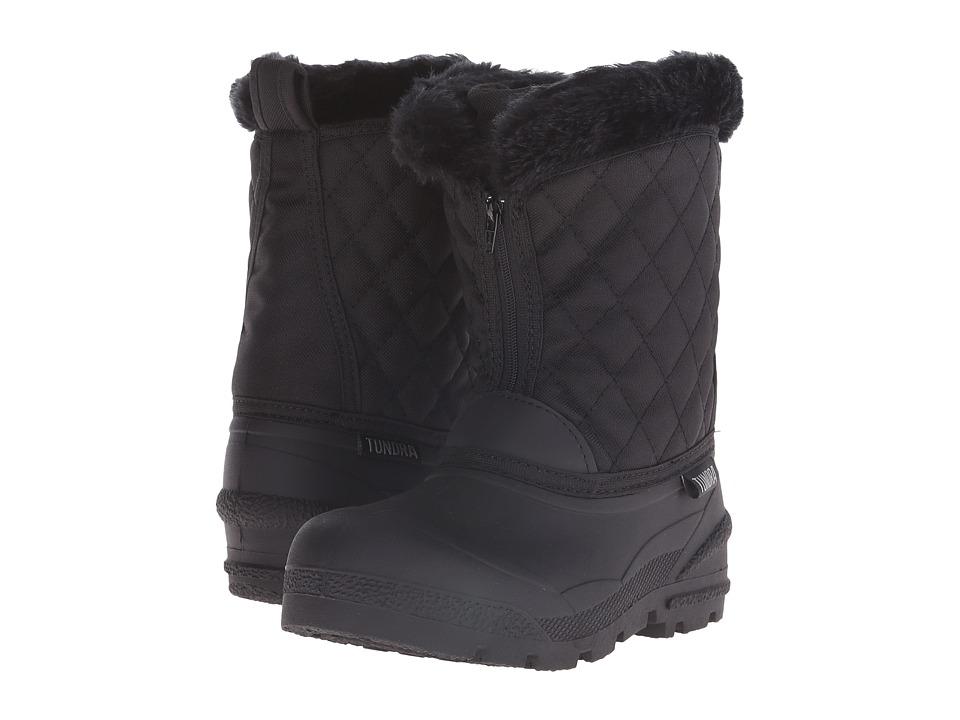 Tundra Boots Kids Snowdrift Little Kid/Big Kid Black 1 Girls Shoes