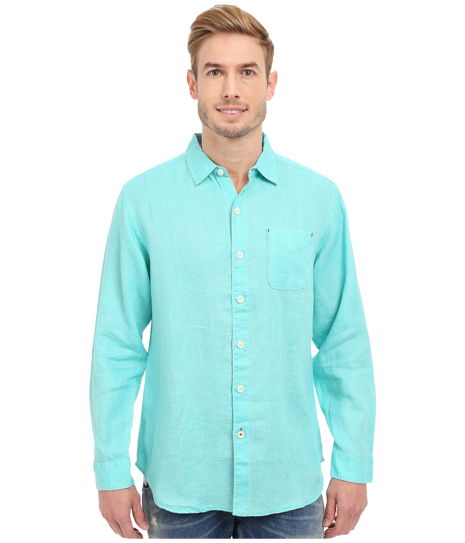 Tommy Bahama Sea Glass Breezer Long Sleeve Shirt Zappos