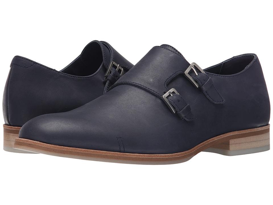 Calvin Klein - Faber (Dark Navy Washed Leather) Men
