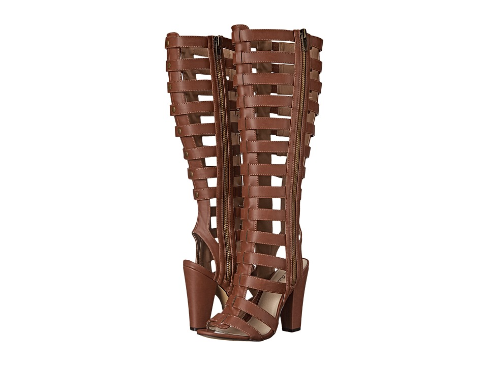 Michael Antonio Kimiko Cognac 2 Womens Zip Boots