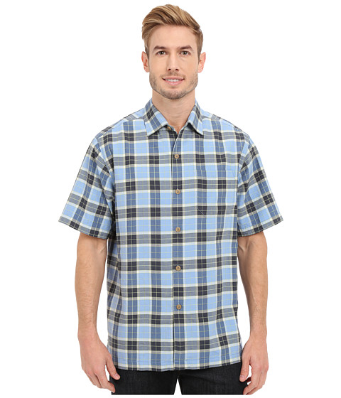 Tommy Bahama Pierre Plaid Camp Shirt - Winter Sky