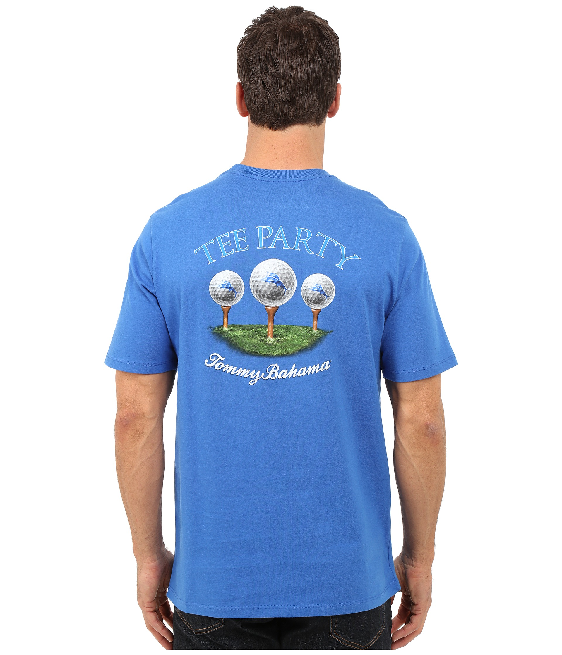 Tommy Bahama Tee Party T Shirt Cobalt Glass