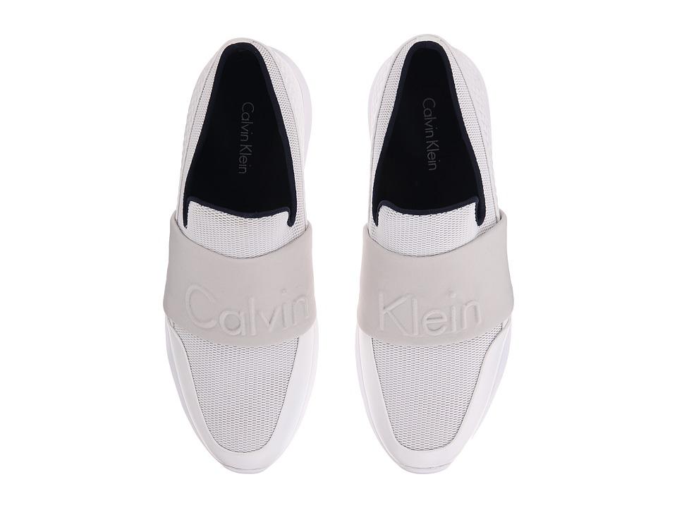 Calvin Klein - Redden (White/Steel Mesh/Hex Emboss) Men