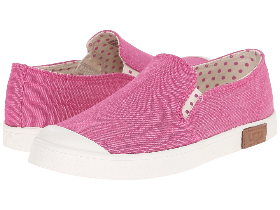 UGG Kids Meaghan Toddler/Little Kid/Big Kid Furious Fuchsia Canvas Girls Shoes