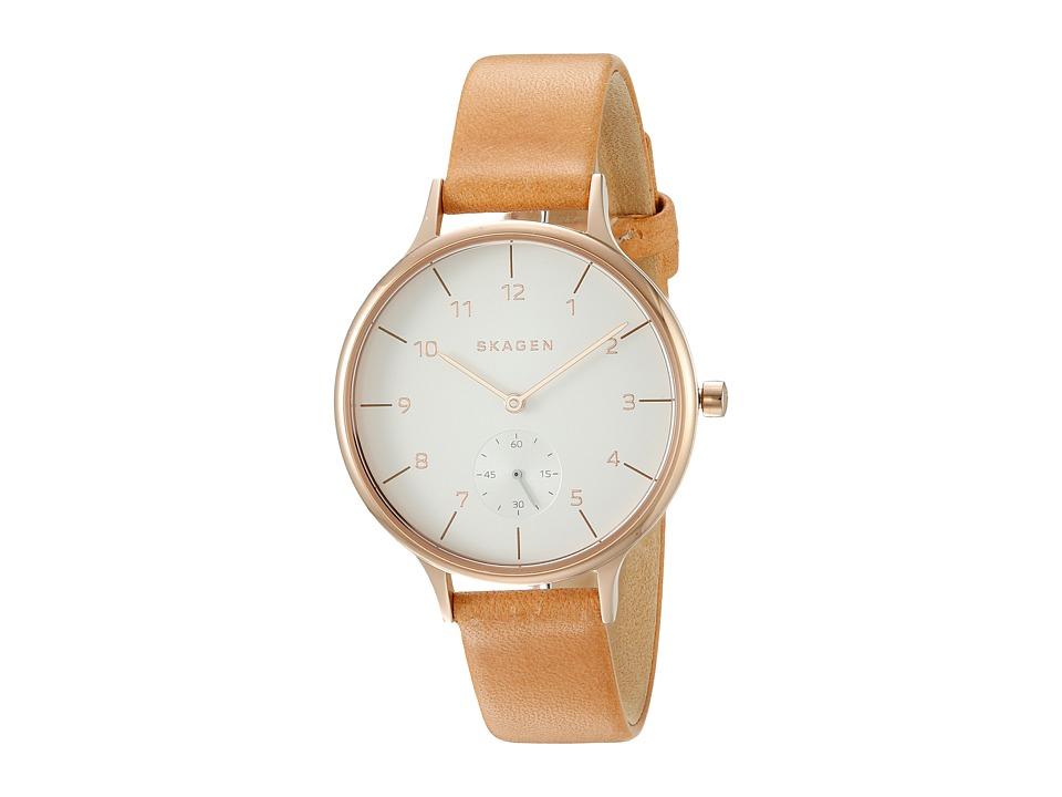 Skagen Anita SKW2405 Rose Gold/Tan Watches