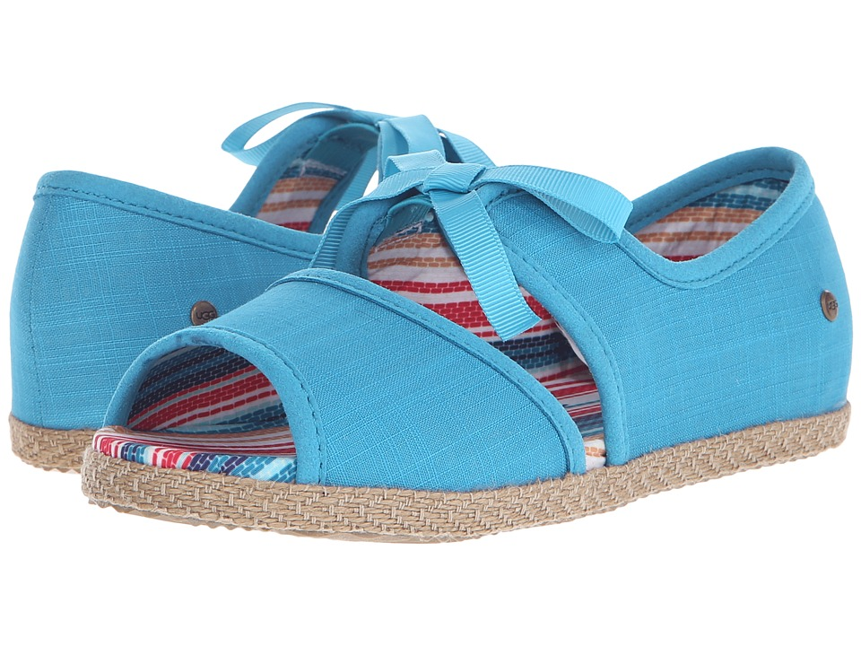 UGG Kids Ashleen Little Kid/Big Kid Surf Blue Canvas Girls Shoes
