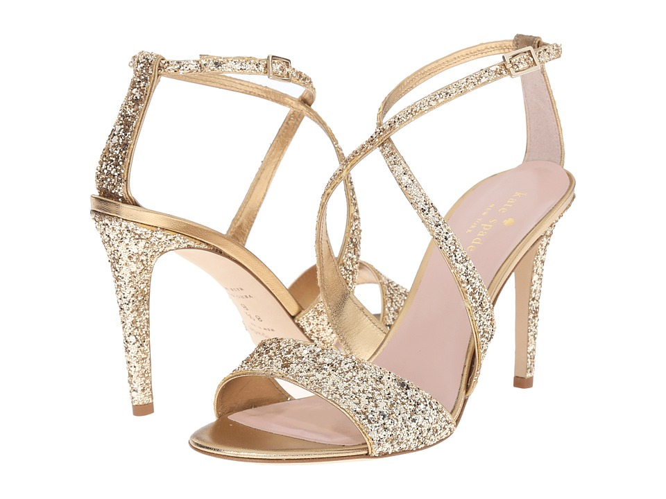 Kate Spade New York - Felicity (Gold Glitter/Old Gold Metallic Nappa) High Heels
