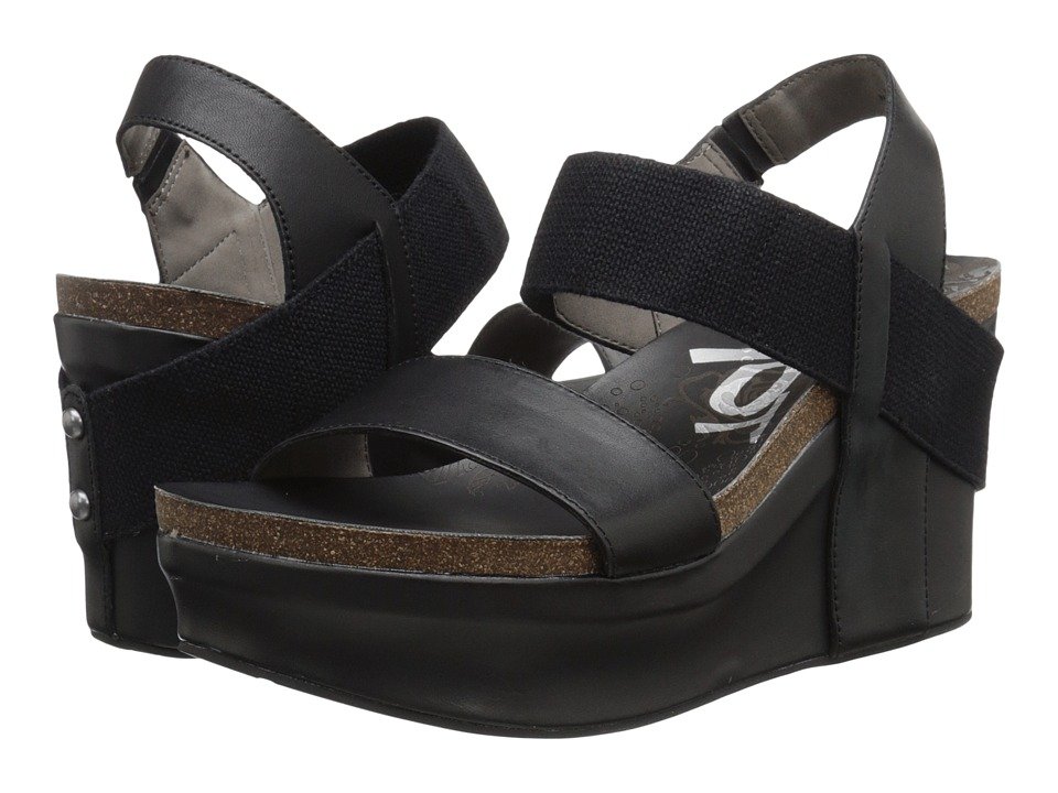 OTBT - Bushnell (Black) Womens Wedge Shoes