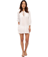 LAUREN by Ralph Lauren - Crushed Cotton Laced Front Darcy Cover-Up