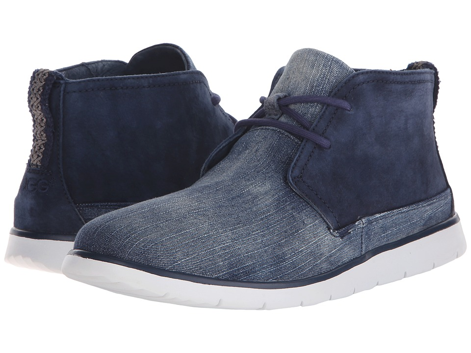 UGG Freamon Washed Denim Navy Denim Mens Lace up Boots
