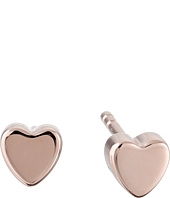 Fossil - Sterling Silver Heart Stud Earrings