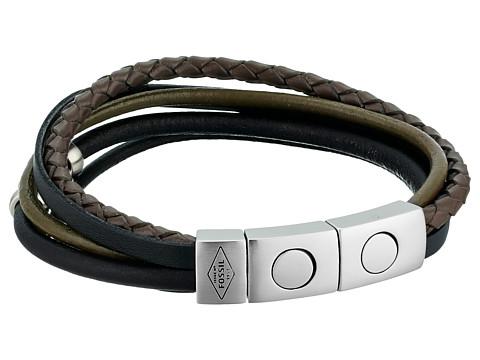 Fossil Retro Pilot Multi-Strand Cuff Bracelet - Black
