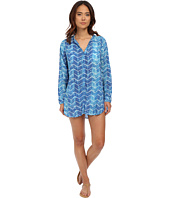 LAUREN Ralph Lauren - Herringbone Camp Shirt Tail Cover-Up