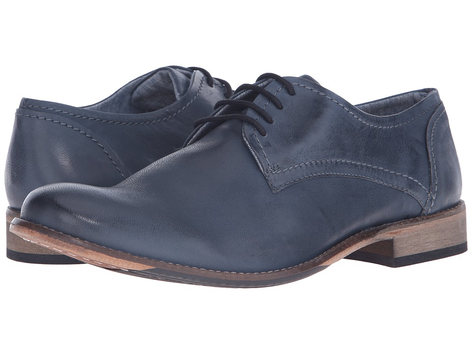 Lotus Hanbury Navy Leather Mens Lace Up Cap Toe Shoes