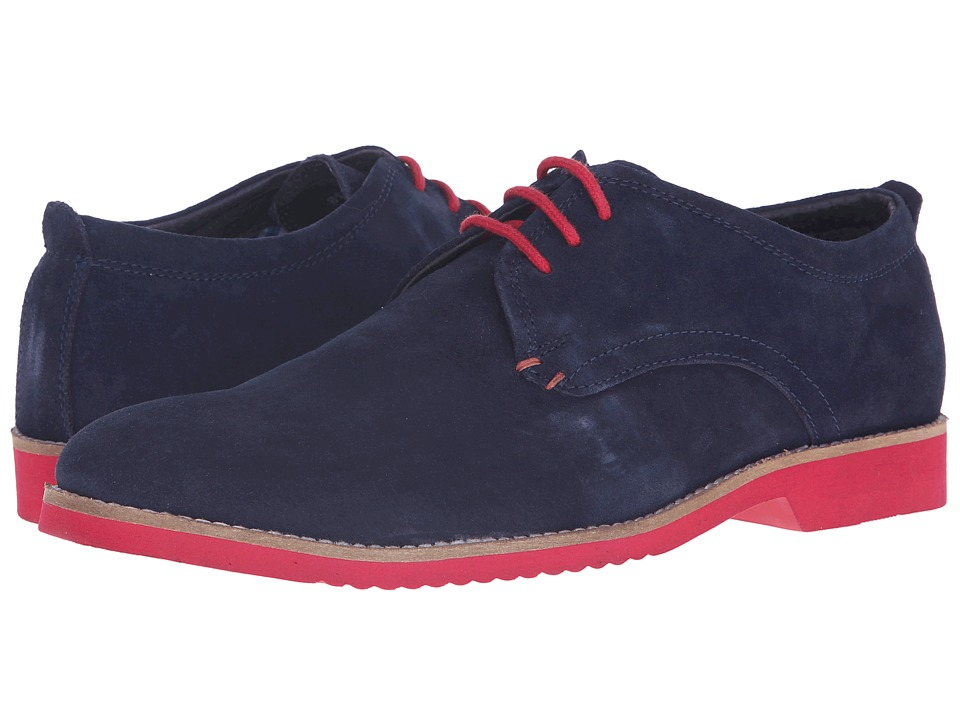 Lotus Camley Navy Suede Mens Lace Up Wing Tip Shoes