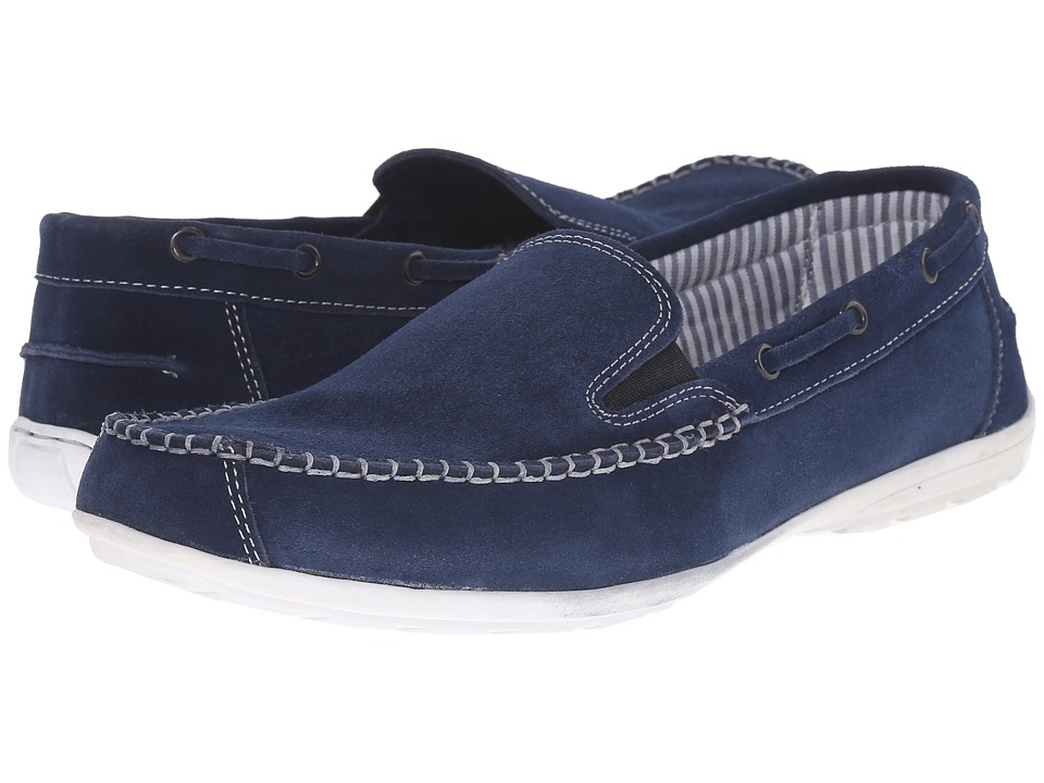 Lotus Colby Navy Suede Mens Slip on Shoes