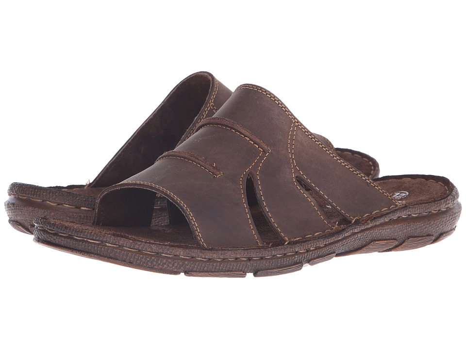 Lotus Campbell Brown Leather Mens Sandals