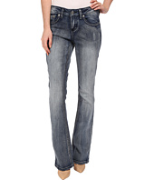 Seven7 Jeans - Flap Pocket Bootcut Jeans in Cliff Blue