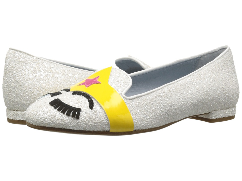 Chiara Ferragni Superhero Flat White Womens Shoes