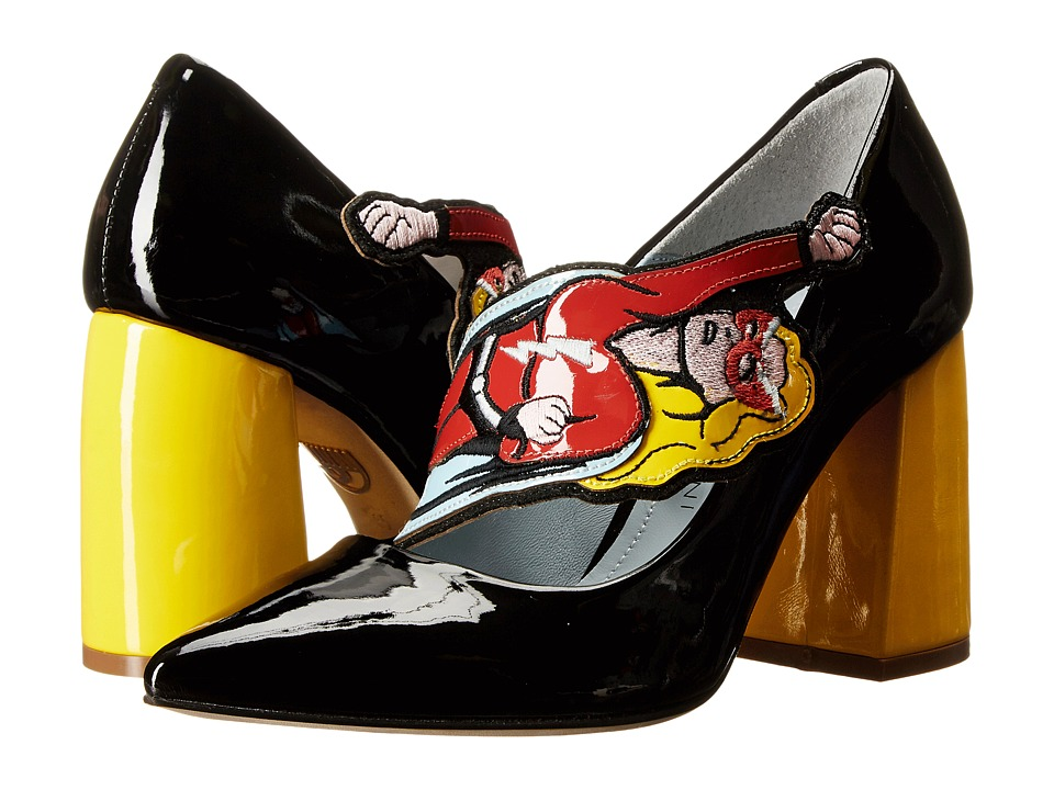 Chiara Ferragni Superhero Pumps Black/Yellow Womens Shoes