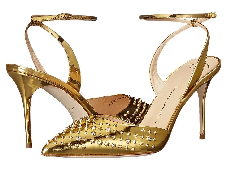 Giuseppe Zanotti E65005 Shooting Oro Womens Shoes