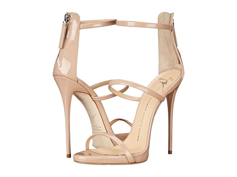 Giuseppe Zanotti High Heel Back Zip Three Strap Sandal Ver Blush Womens Shoes