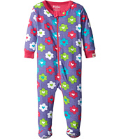Hatley Kids - Flower Hearts Footed Coverall (Infant)