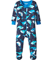 Hatley Kids - Plaid Whales Footed Coverall (Infant)