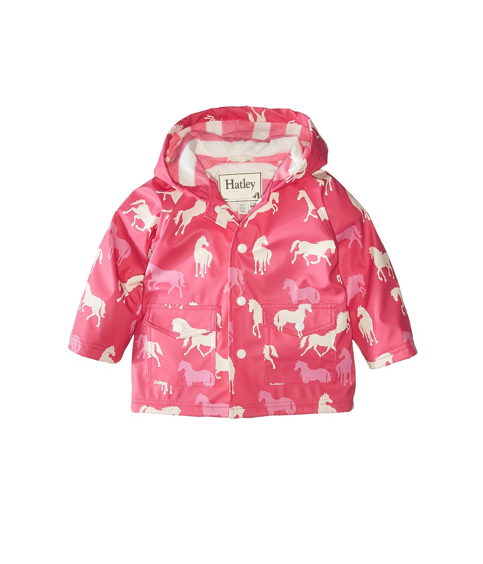 Hatley Kids Classic Horses Raincoat Infant Pink Girls Coat
