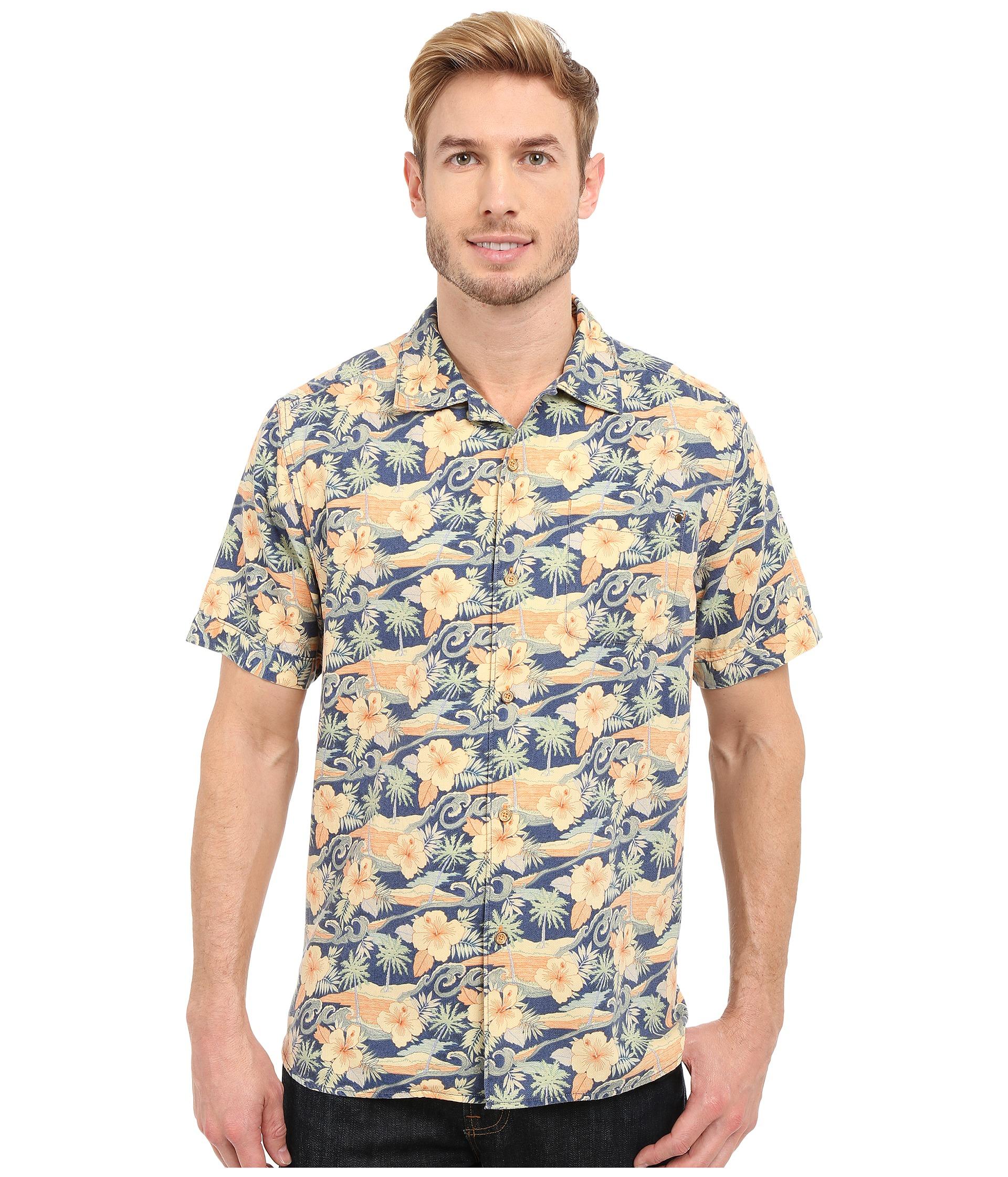 Tommy Bahama Cassis Print Camp Shirt At