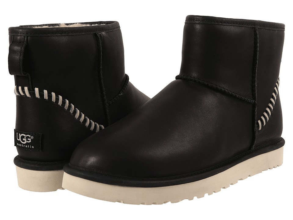 UGG Classic Mini Deco (Black Leather 1) Men