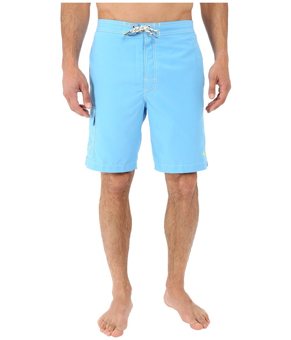 Tommy Bahama The Baja Poolside 9 Swim Trunks Lol Blue Mens Swimwear