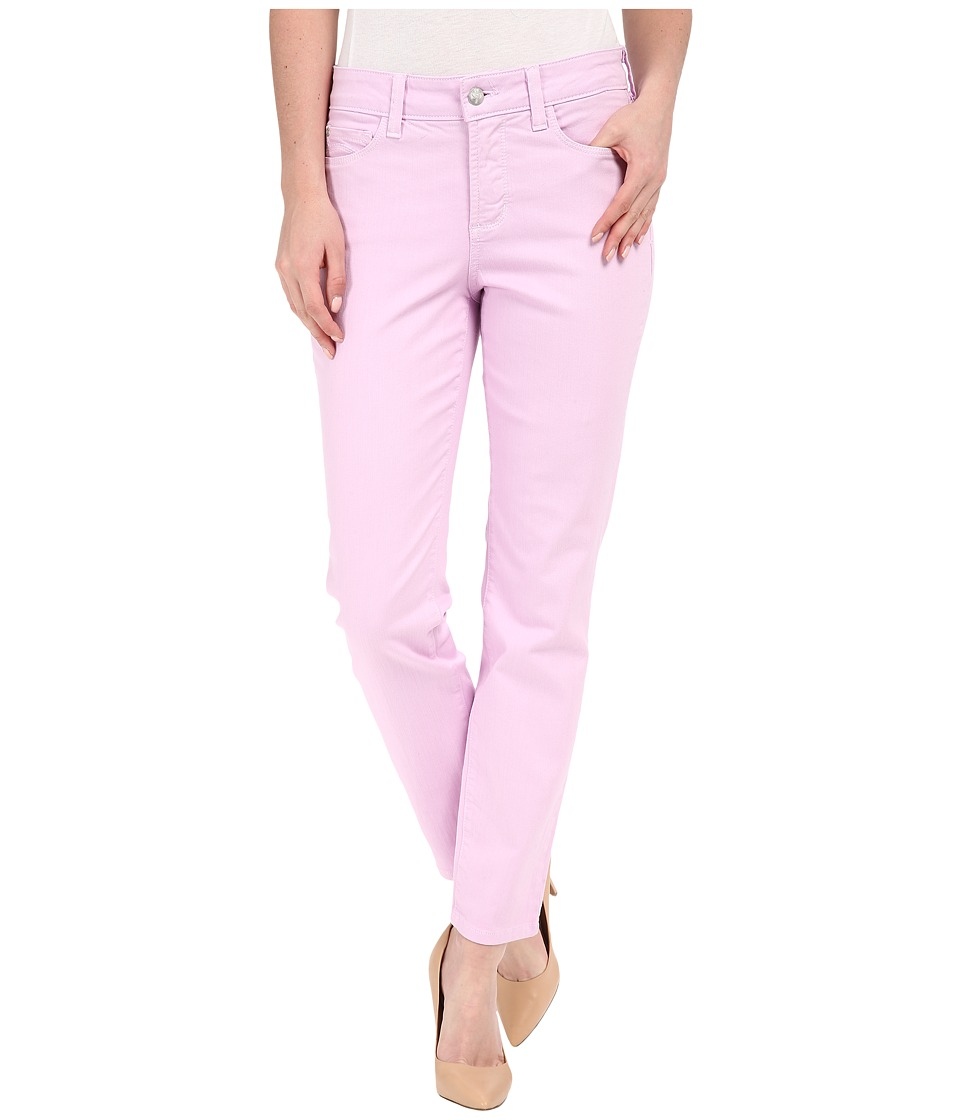 NYDJ Clarissa Skinny Ankle Fine Line Twill Lavender Fog Womens Jeans