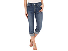 Dayla Wide Cuff Capri in Heyburn Wash