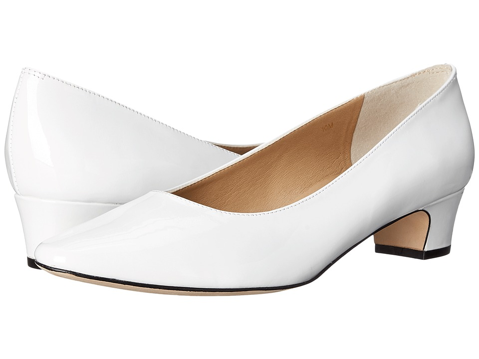 Vaneli Astyr White Patent Womens 1 2 inch heel Shoes