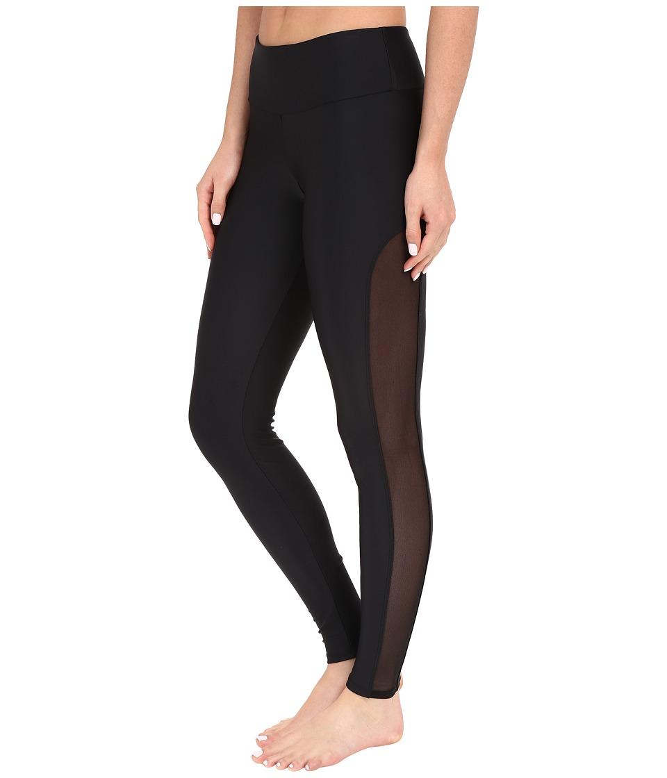 Onzie Black Tuxedo Leggings Black/Black Mesh Womens Casual Pants