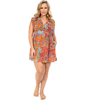 LAUREN by Ralph Lauren - Plus Size Maharaja Paisley Farrah Dress Cover-Up
