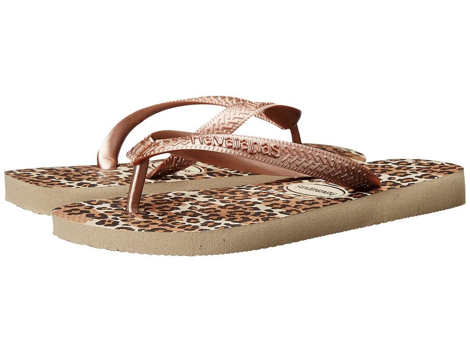 Havaianas Top Animals Flip Flops Sand Grey Womens Sandals
