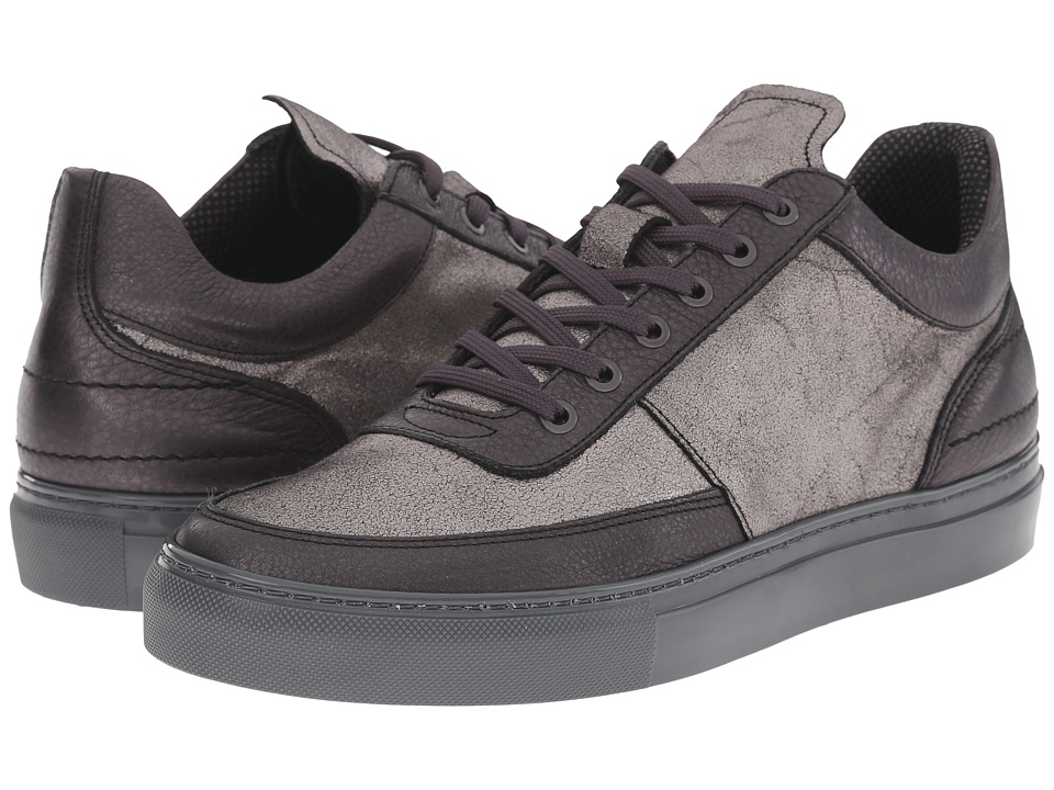 Steve Madden Metel Black/Silver Mens Lace up casual Shoes
